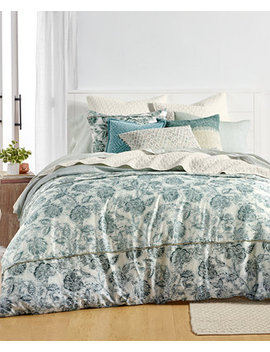 Floral Batik Duvet Cover Sets, Created For Macy's by Lucky Brand