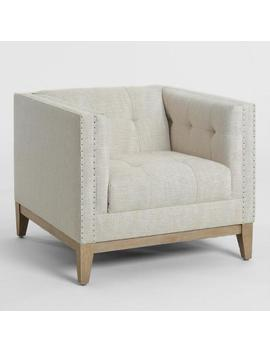Taupe Tufted Nail Head Myles Armchair by World Market