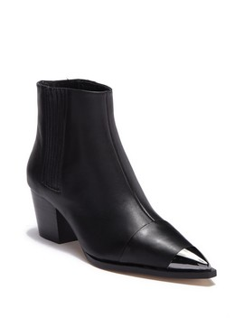 Blythe Leather Metallic Toe Chelsea Boot by Halston Heritage