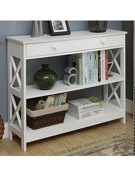 Convenience Concepts Oxford 1 Drawer Console Table, White by Convenience Concepts