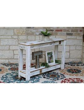 White Farmhouse Console Table 46'' by Amazon