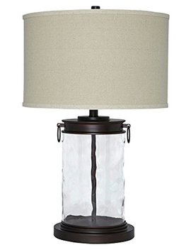 ashley-furniture-signature-design---tailynn-farmhouse-glass-table-lamp---clear-and-bronze-finish by signature-design-by-ashley
