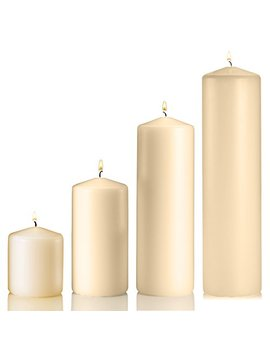 set-of-4-unscented-pillar-candles-–-3x3-inch,-3x6-inch,-3x9-inch,-3x12-inch-–-extra-long-burn-time-–-ideal-for-wedding,-restaurants,-spa,-hotels,-home-décor-(vanilla) by light
