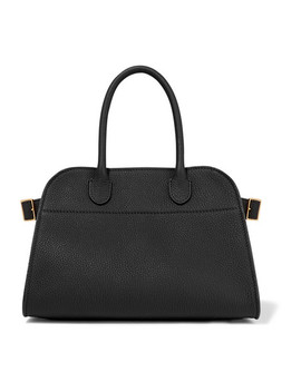 Margaux 10 Buckled Textured Leather Tote by The Row