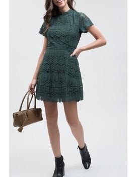 mock-neck-lace-dress by blu-pepper