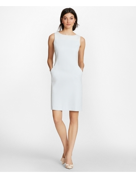 Polka Dot Jacquard Sheath Dress by Brooks Brothers