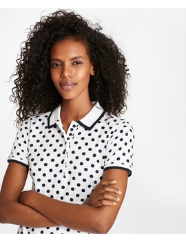 Polka Dot Cotton Interlock Jersey Polo by Brooks Brothers