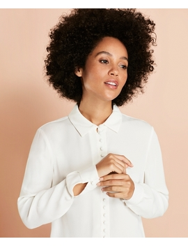 Crepe Blouse by Brooks Brothers