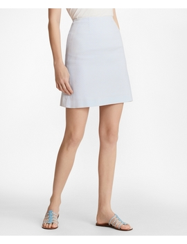 Polka Dot Jacquard A Line Skirt by Brooks Brothers