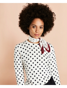 Polka Dot Cotton Sweater by Brooks Brothers