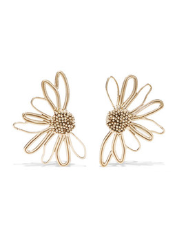 Bouquet Gold Tone Earrings by Stvdio