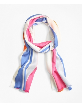Striped Cotton Scarf by Brooks Brothers