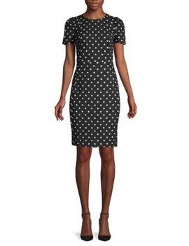 Polka Dot Sheath Dress by Calvin Klein