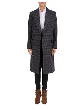 Cappotto Double Breasted Check Print Coat by The Kooples