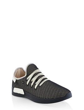 Lace Up Fishnet Sneakers by Rainbow