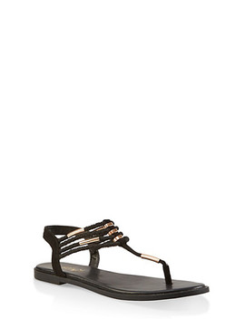 Braided Strap Thong Sandals by Rainbow