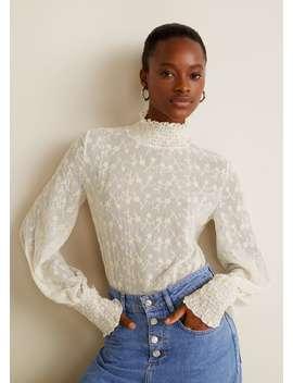 Bluza S Izvezenim Cvjetovima by Mango