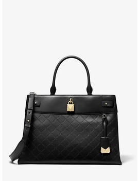 Gramercy Large Chain Embossed Leather Satchel by Michael Michael Kors