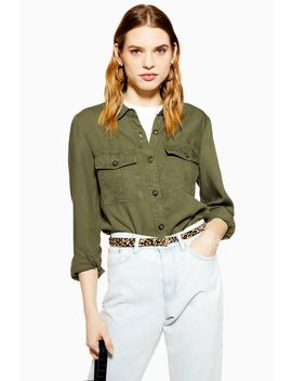 Petite Double Pocket Utility Shirt by Topshop