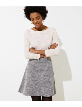 Textured Knit Flippy Skirt by Loft
