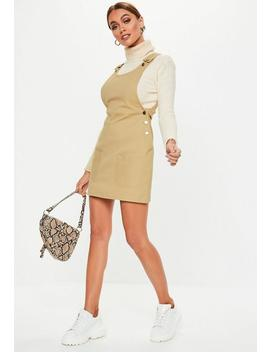 Petite Sand Pinafore Mini Dress by Missguided