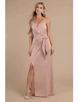 Stylestalker Tessa Nude Halter Maxi Dress by Tobi