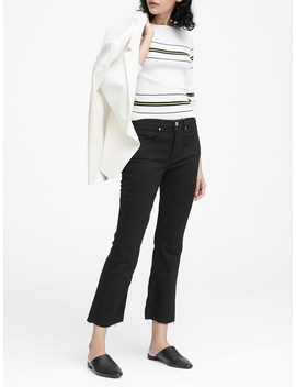 Mid Rise Crop Flare Jean by Banana Repbulic