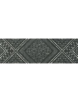Brea Grey Patterned Runner 2.5'x8' by Crate&Barrel