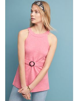 Belted Halter Top by Anthropologie