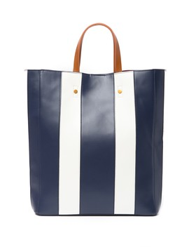Striped North South Tote Bag by Deux Lux