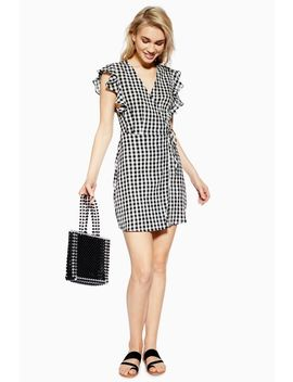 Gingham Ruffle Wrap Dress by Topshop