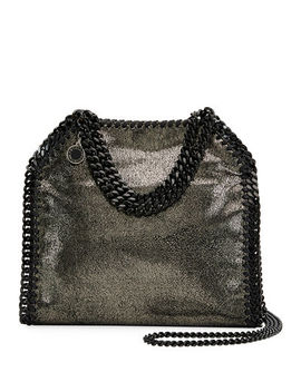 Stella Mc Cartney Falabella Mini Shiny Dotted Chamois Tote Bag by Stella Mc Cartney