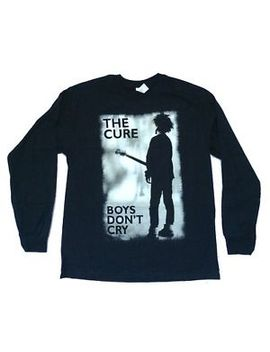 Cure Boys Don't Cry Black Long Sleeve Shirt New Official Band Merch by Gildan