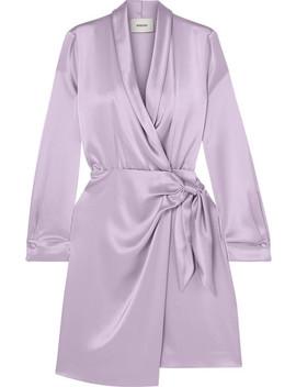 Siwa Satin Wrap Dress by Nanushka