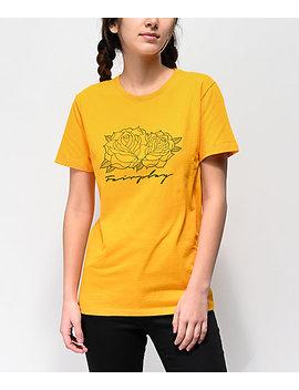 Fairplay Script Roses Gold T Shirt by Fairplay