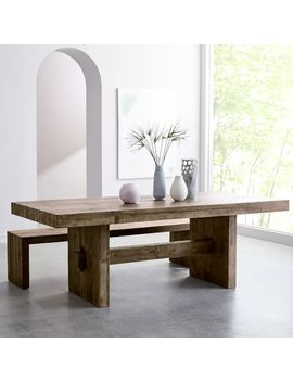 Emmerson® Reclaimed Wood Dining Table   Stone Gray by West Elm