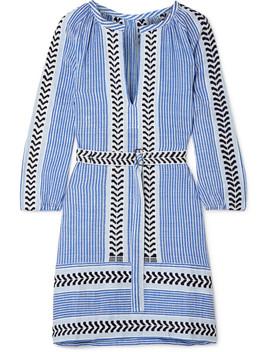 Kesiti Belted Cotton Blend Gauze Mini Dress by Lem Lem