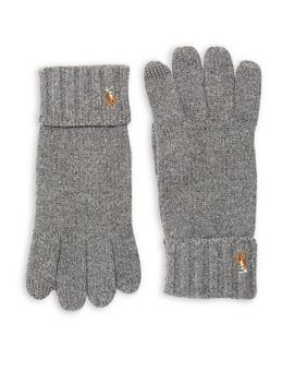Signature Merino Wool Gloves by Polo Ralph Lauren