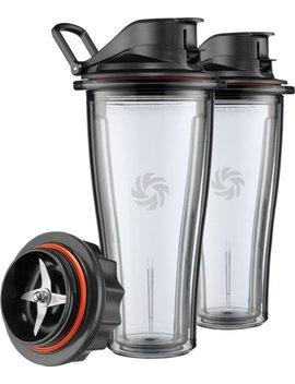 Blending Cup Starter Kit For Vitamix Ascent Series Blenders   Black/Clear by Vitamix