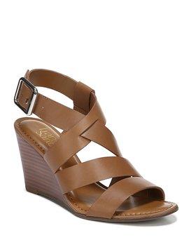 Yara Leather Wedge Sandals by Franco Sarto
