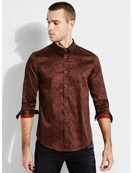 Luxe Cyber Terrain Shirt by Guess