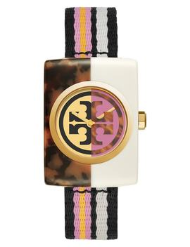 Edie Acetate Nato Strap Watch, 32mm by Tory Burch