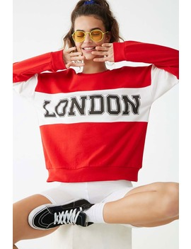 Colorblock London Graphic Sweatshirt by Forever 21
