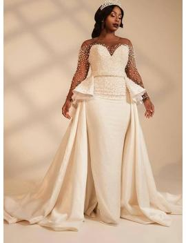 African White Wedding Dress With Cape/African Cape Dress With Side Peplum/Prom Dresses/African Wedding Dress/African Wedding Dress by Etsy