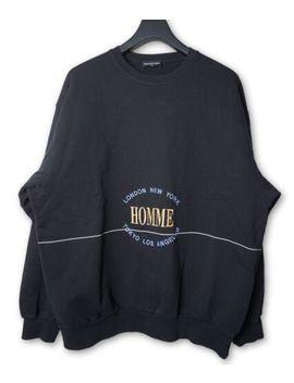 Balenciaga Aw17 Black Oversized 'homme' Crewneck Sweatshirt Size L by Balenciaga