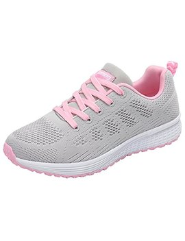 Jarlif Women's Breathable Fashion Walking Sneakers Lightweight Athletic Tennis Running Shoes Us5.5 10 by Jarlif