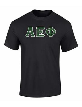 Fashion Greek Alpha Epsilon Phi Twill Letter T Shirt by Fashion Greek
