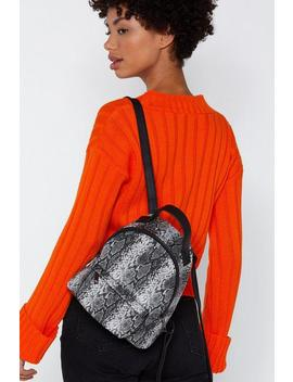Want We Choose Zoo Snake Backpack by Nasty Gal