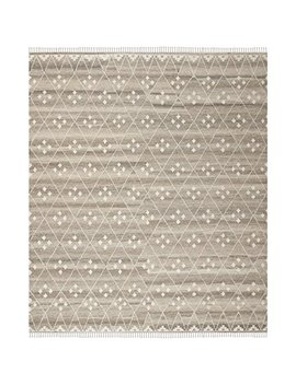 Safavieh Natural Kilim Collection Nkm316 B Flatweave Natural And Ivory Wool Area Rug (9' X 12') by Safavieh