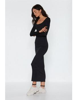 Love You Long Time Ribbed Maxi Dress by Nasty Gal